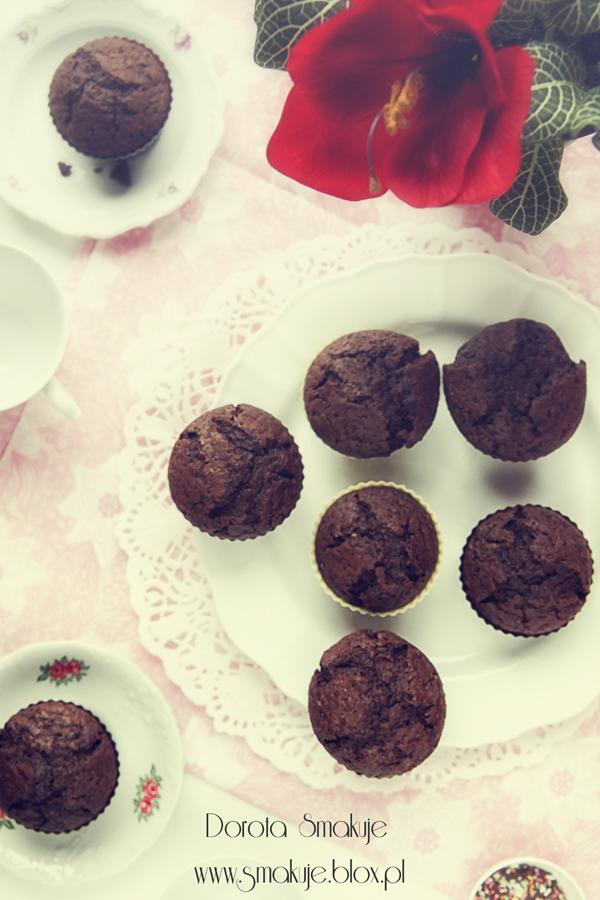 Babeczki czekoladowo – rumowe