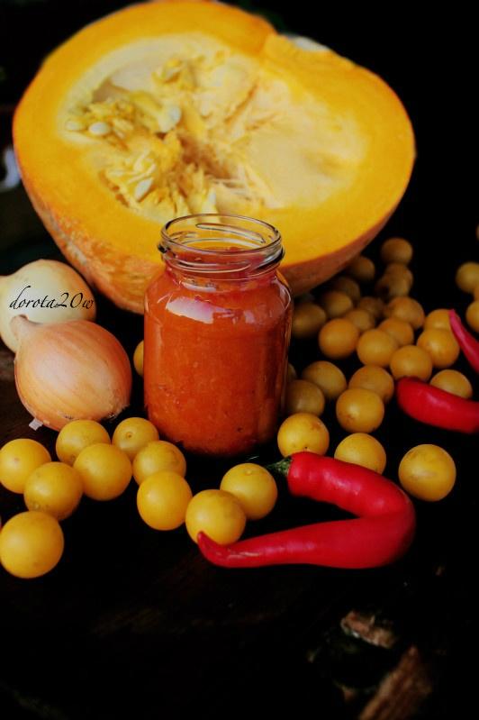 Domowy ketchup z mirabelek i dyni