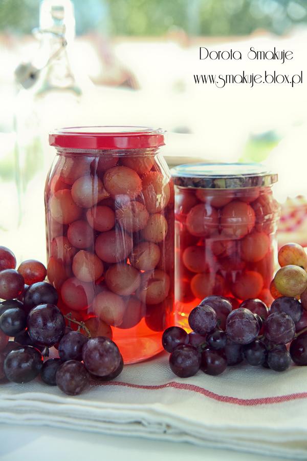 Kompot z winogron na zimę
