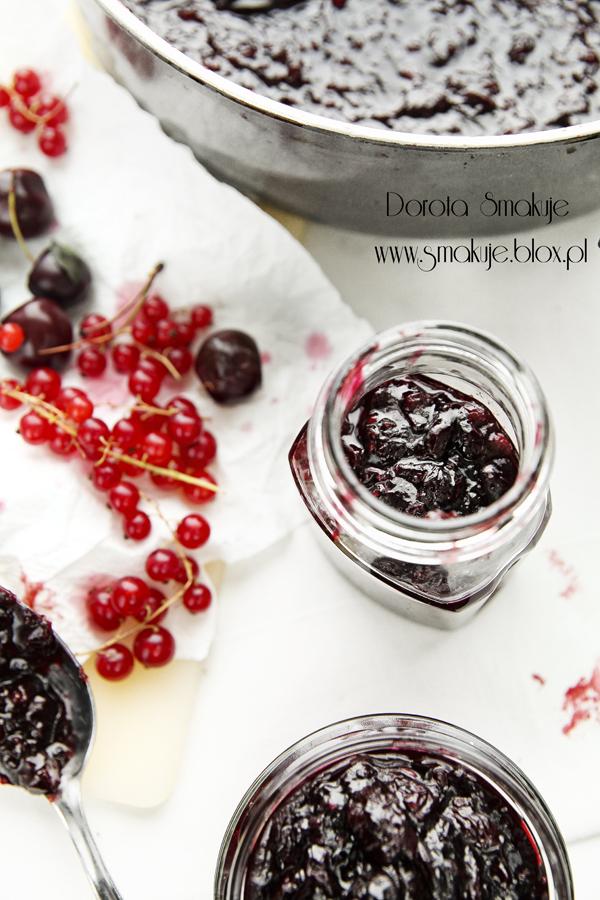 Konfitura z wiśni i czerwonej porzeczki