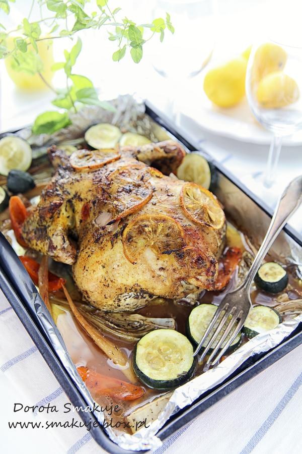 Kurczak pieczony z cytryną i tymiankiem