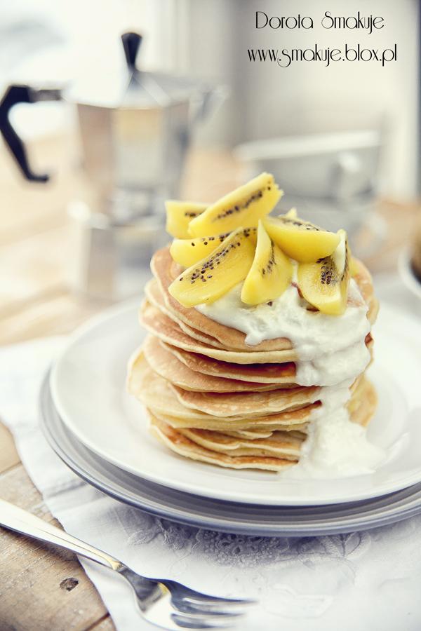 Orkiszowe pancakes na kefirze