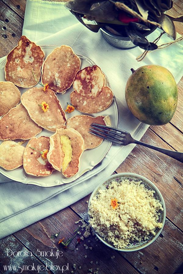 Placki z mango i kaszą jaglaną