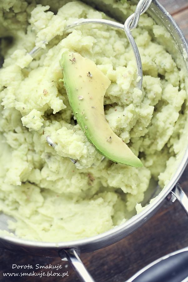 Puree z ziemniaków i awokado