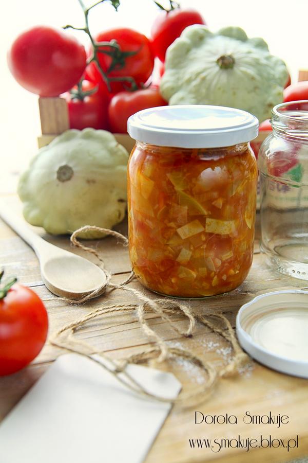 Sos pomidorowy z patisonem na zimę