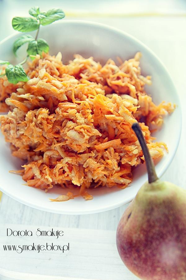 Surówka z marchewki z gruszką