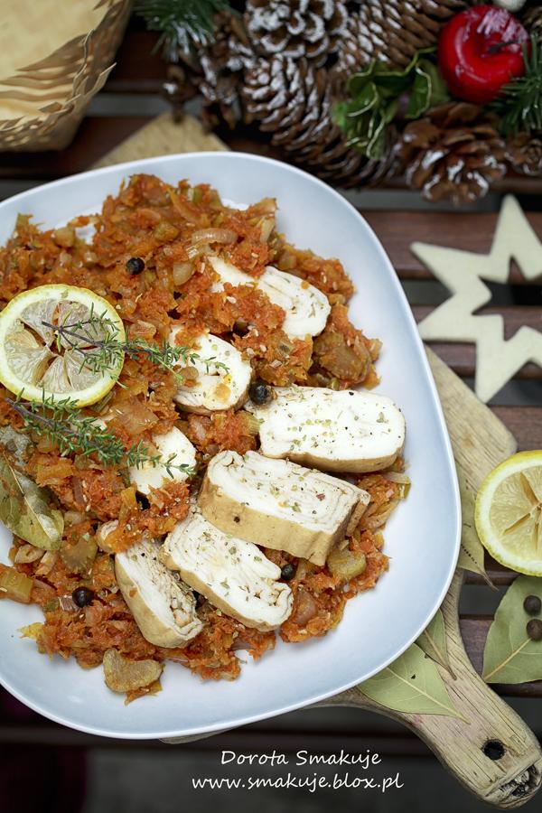 Wegetariańska ryba po grecku w wersji light
