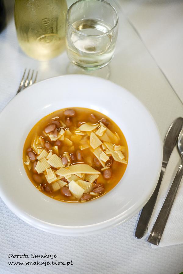 Włoska zupa fasolowa z makaronem - Maltagliati con fagioli