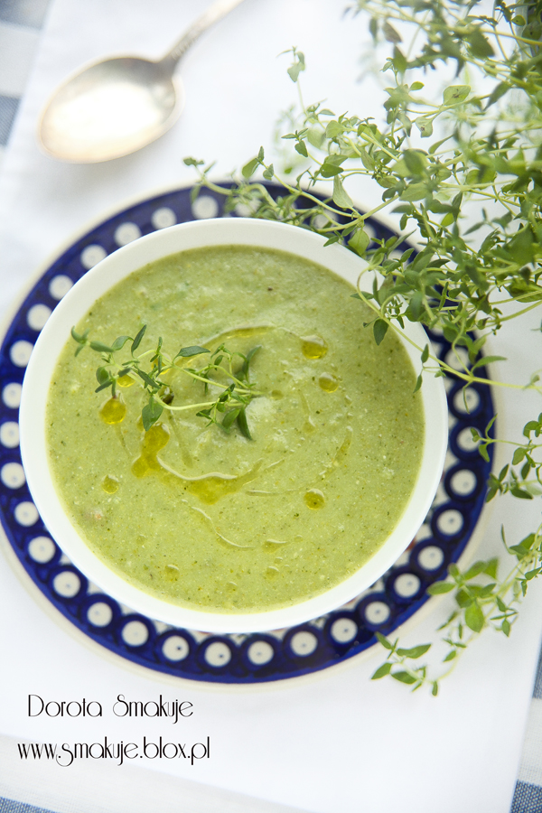 Zielona zupa krem brokułowo - szpinakowa