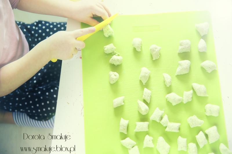 Zielone kluski leniwe – szpinakowe