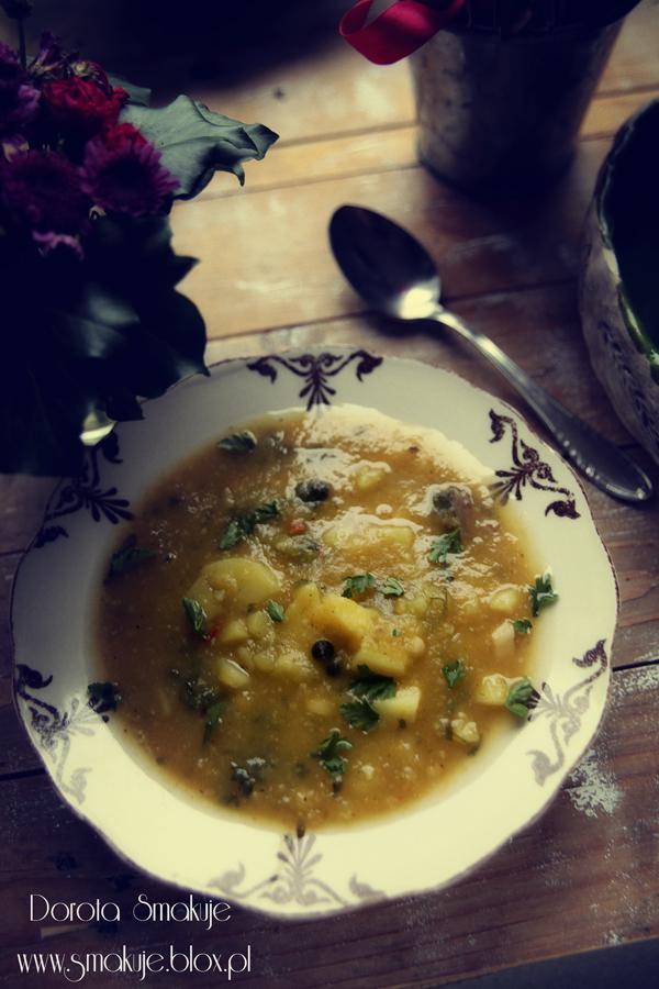 Zupa dyniowa z kaszą jaglaną