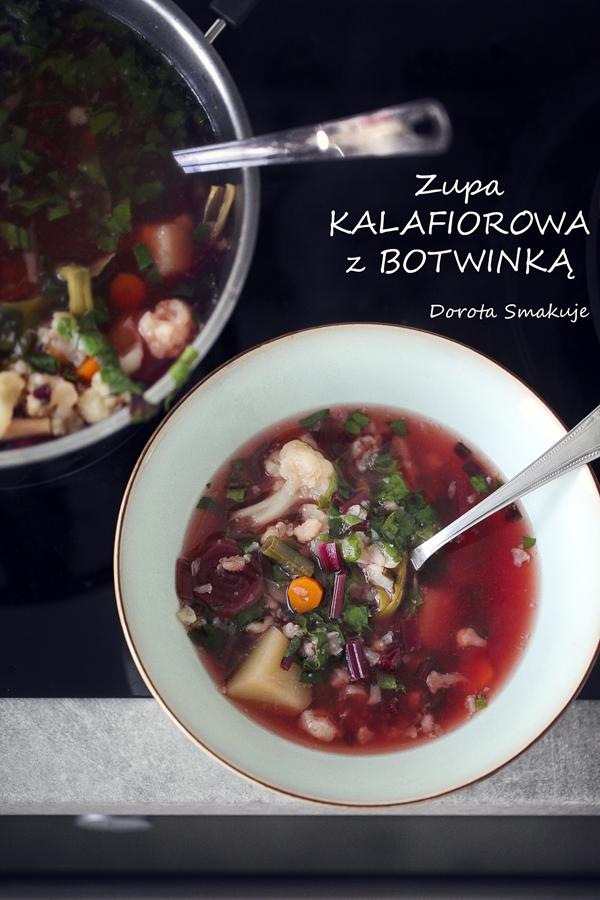 Zupa kalafiorowa z botwinką