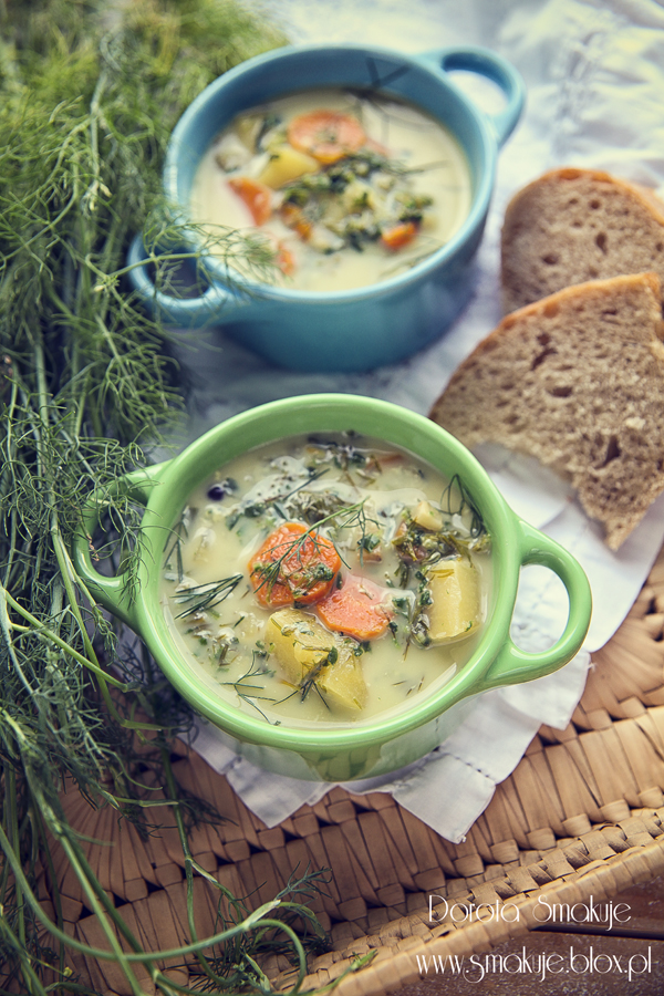 Zupa koperkowo – szpinakowa