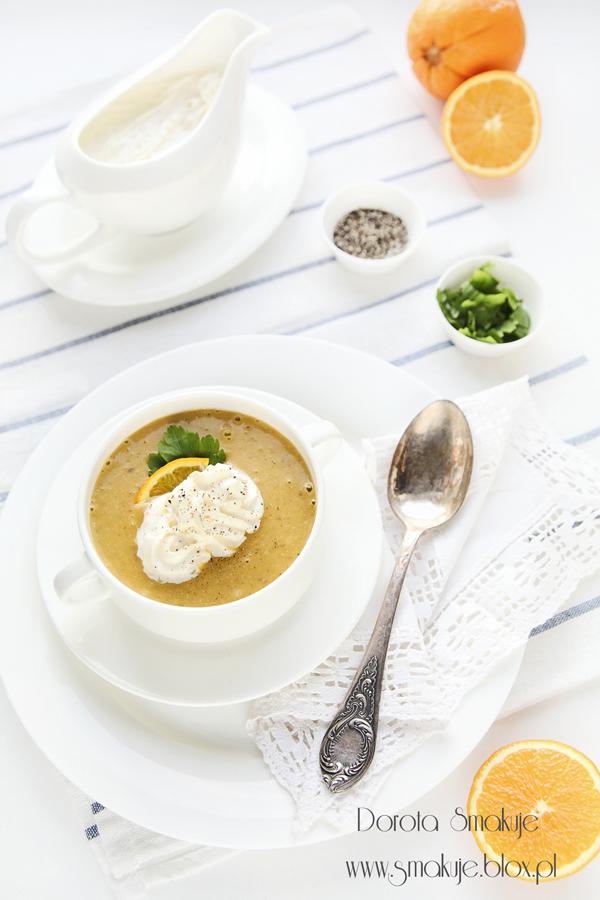 zupa marchewkowo-pomarańćzowa