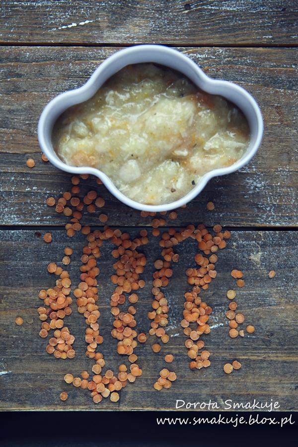 Zupka z soczewicy z indykiem i majerankiem po 7 miesiącu