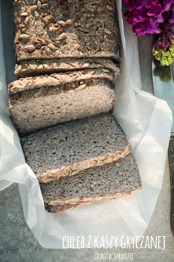 Chleb z kaszy gryczanej bez drożdży, bezglutenowy