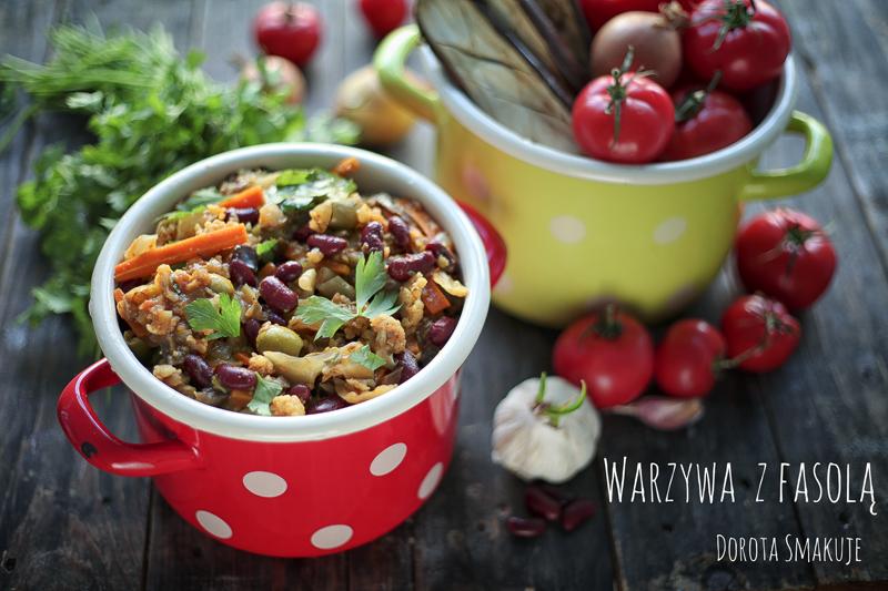 Duszone warzywa z fasolą – jednogarnkowe danie wegańskie