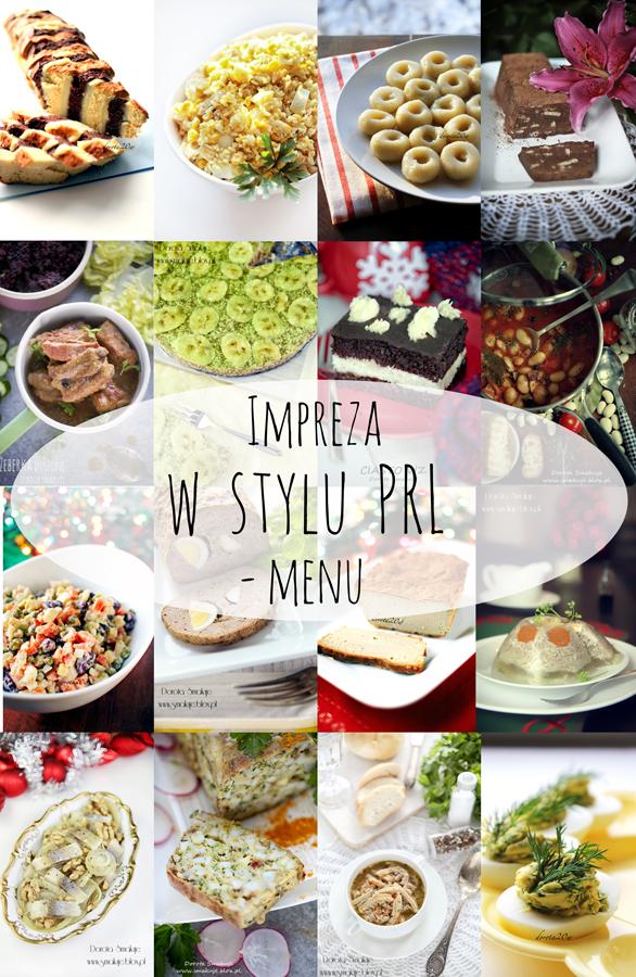 impreza w stylu PRL menu