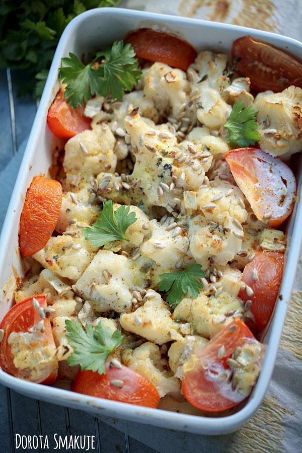 Kalafior zapiekany pod serem gorgonzola