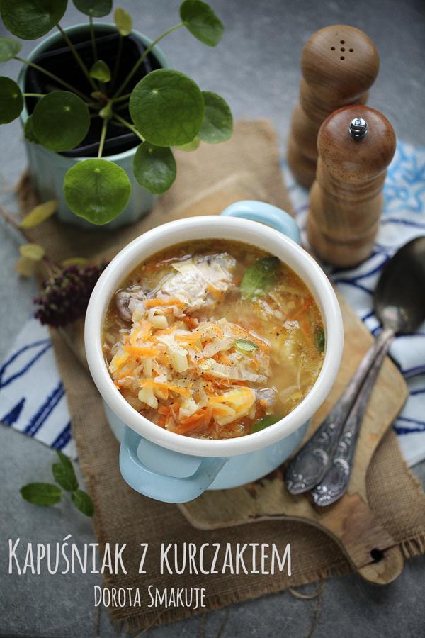 Zupa Kapuśniak z kurczakiem