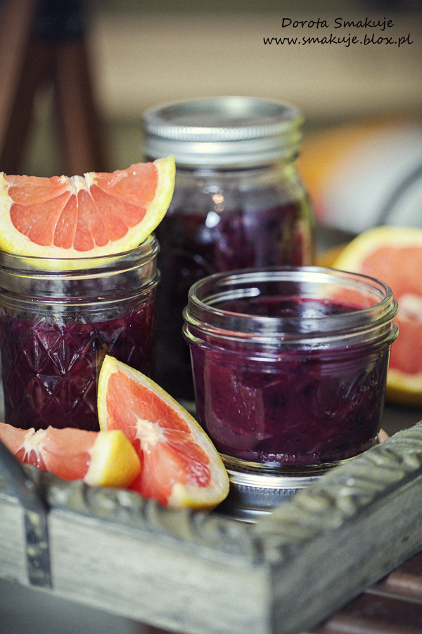 Domowy kisiel jagodowo – grejpfrutowy
