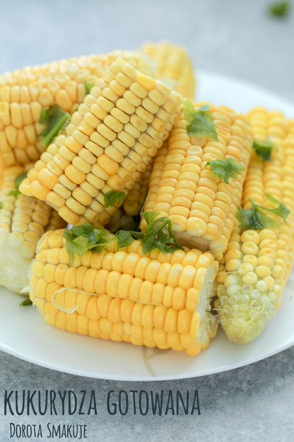 Kukurydza w kolbach gotowana