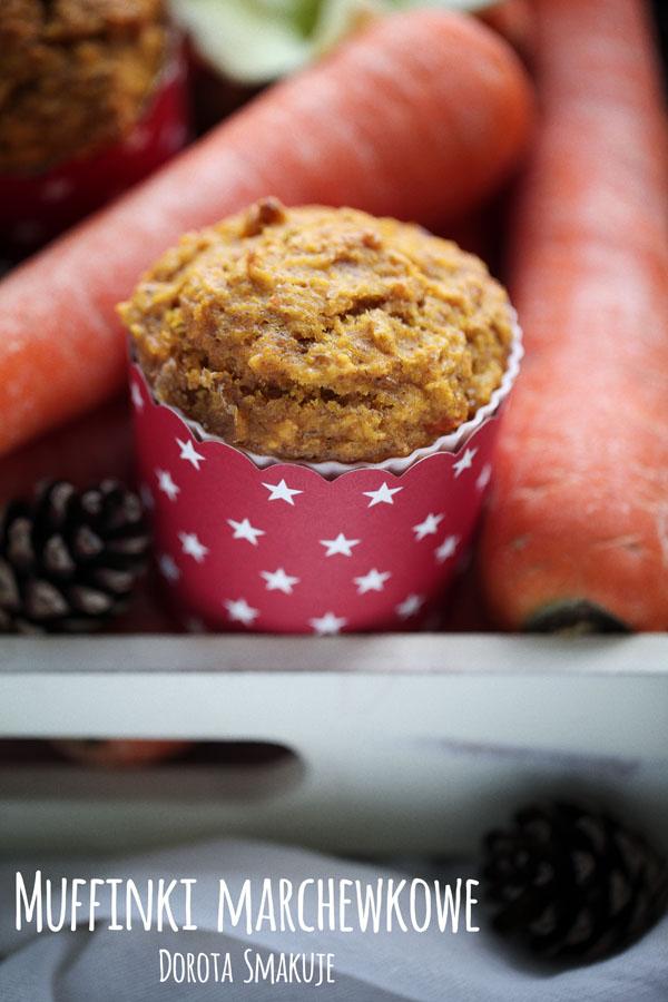 Muffinki marchewkowe <br>z resztek z sokowirówki