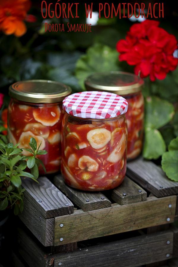 Ogórki w pomidorach na zimę