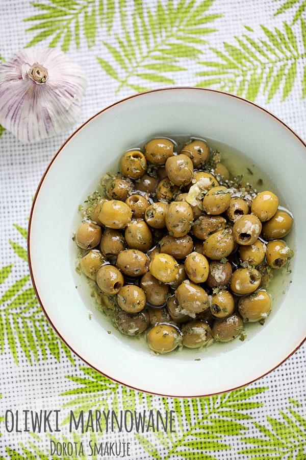 Oliwki marynowane czosnkowe