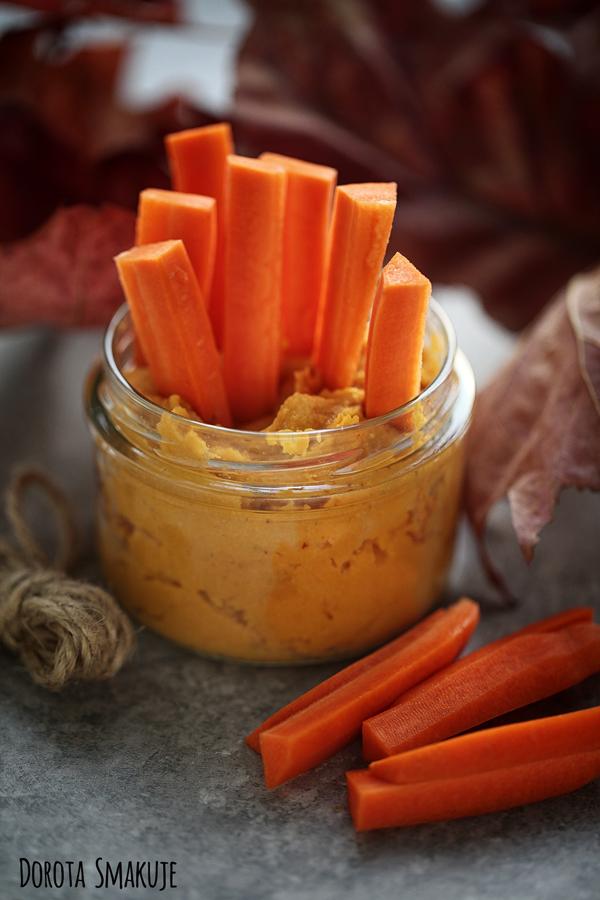 Pasta z marchewki pieczonej