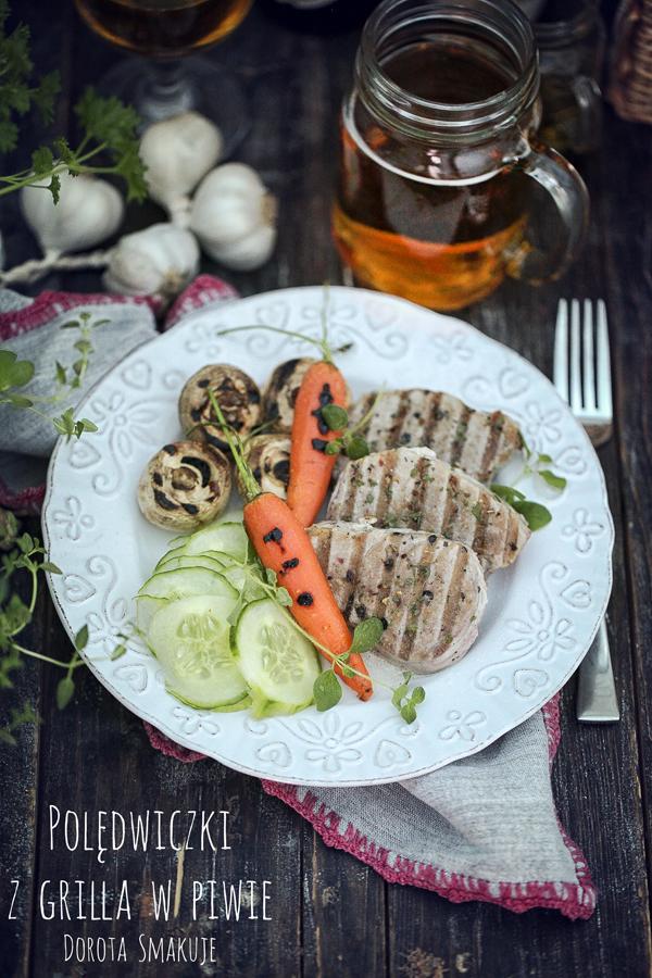 Polędwiczki z grilla w piwie
