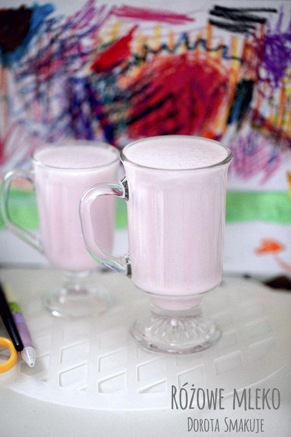 Różowe mleko