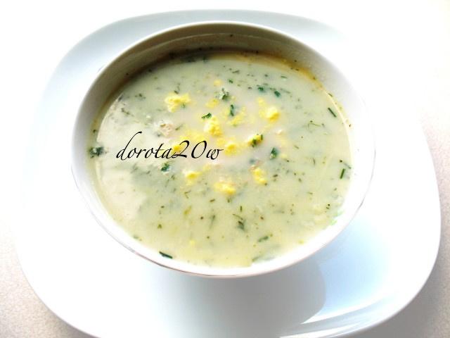 zupa cukiniowo - czosnkowa