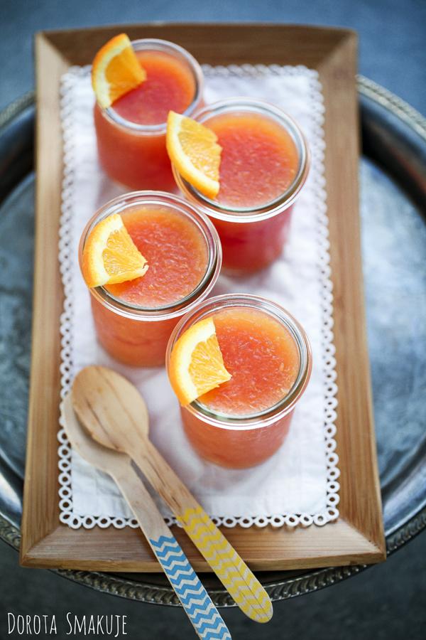 Galaretka z pomarańczy czerwonych