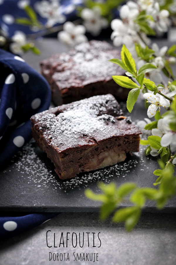 Clafoutis czekoladowe