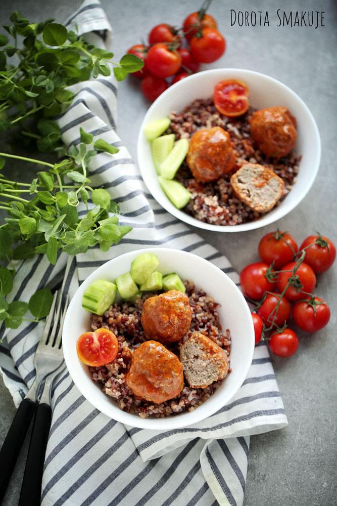 klopsiki z ryżem czerwonym: