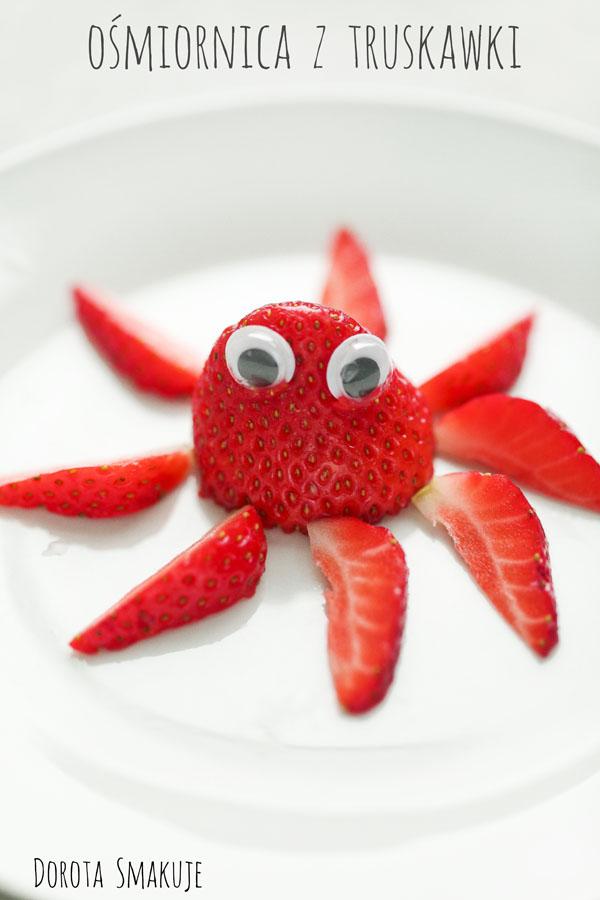 Ośmiornica z truskawki dla dzieci