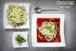 Pomidorowa z makaronem cukiniowym <br>- dieta dr Dąbrowskiej