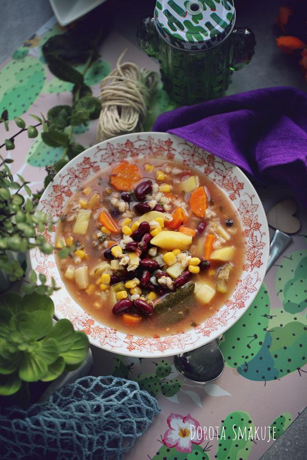 Zupa ziemniaczana po meksykańsku