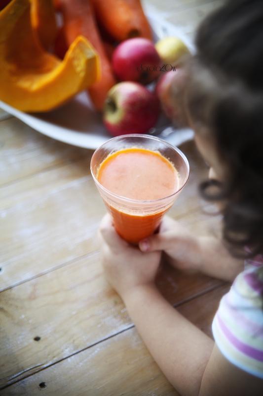 Sok z dyni z jabłkiem, gruszką i marchewką
