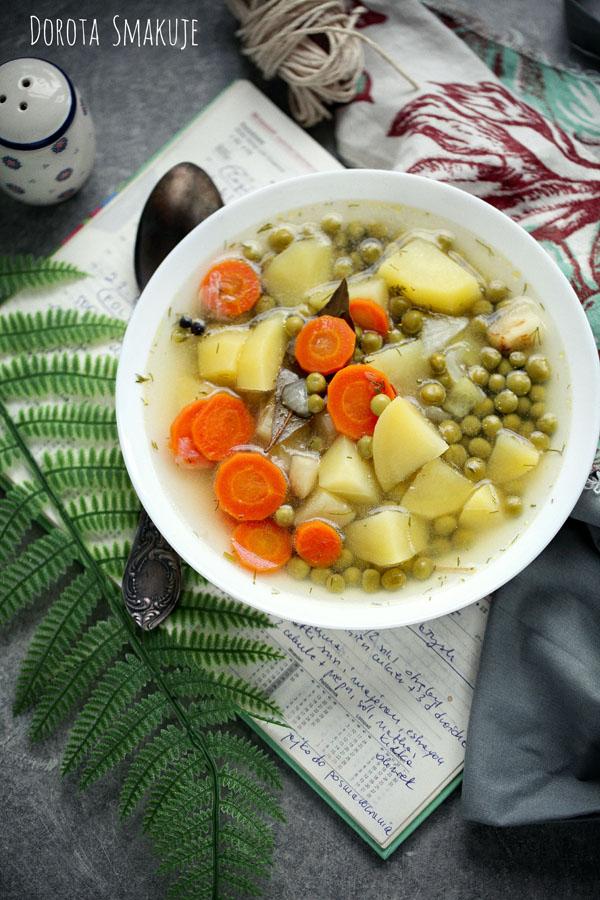 Zupa kartoflanka z groszkiem