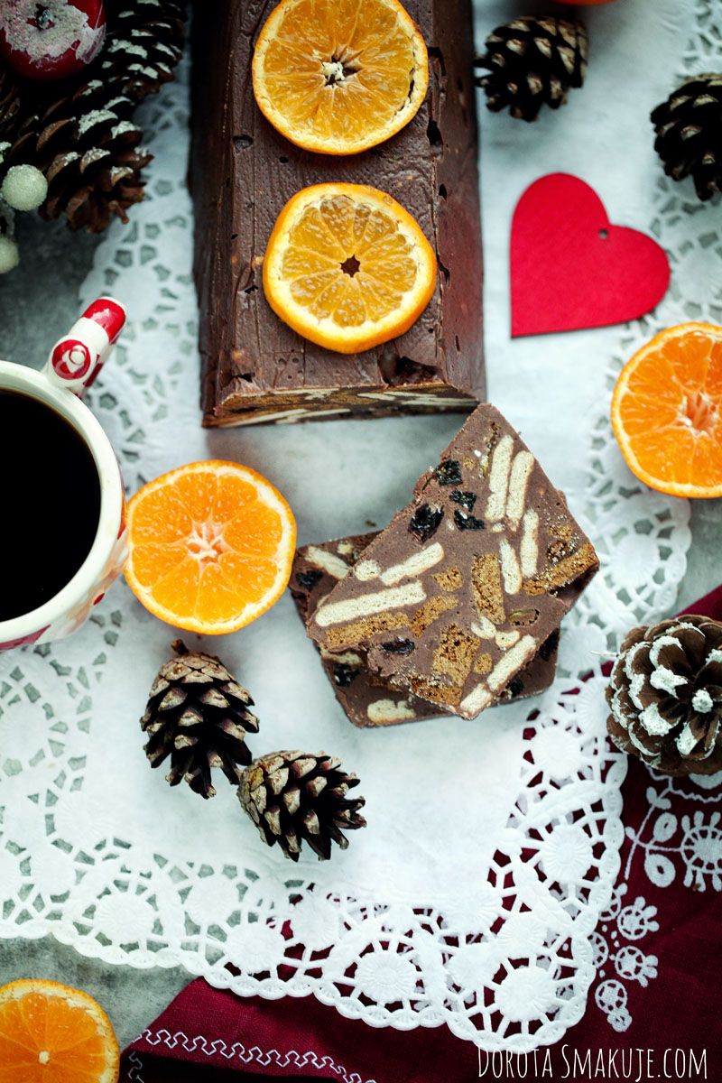 Blok czekoladowy pomarańczowo piernikowy