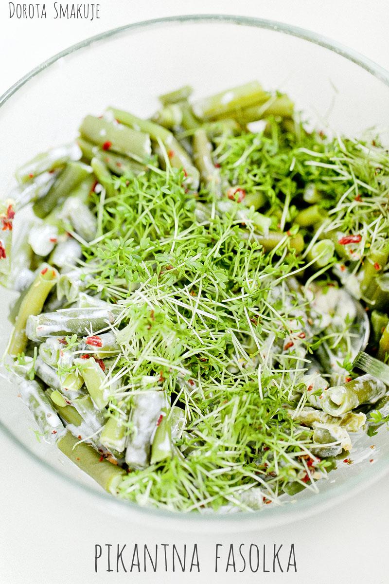 Pikantna sałatka z fasolką szparagową