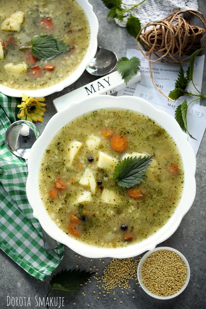 Najzdrowsza zupa na wiosnę - Krupnik jaglany z pokrzywą