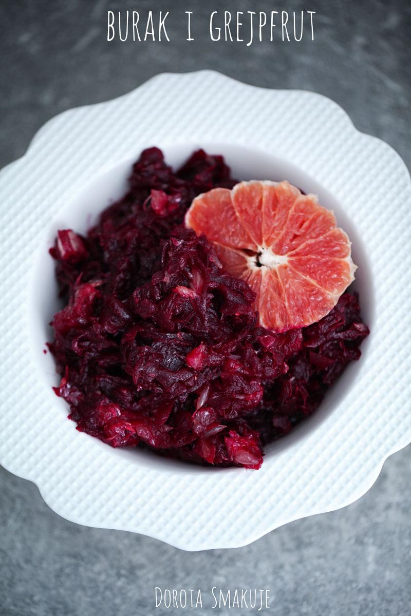 Dieta może być pyszna - Burak pieczony z grejpfrutem - post dr Dąbrowskiej
