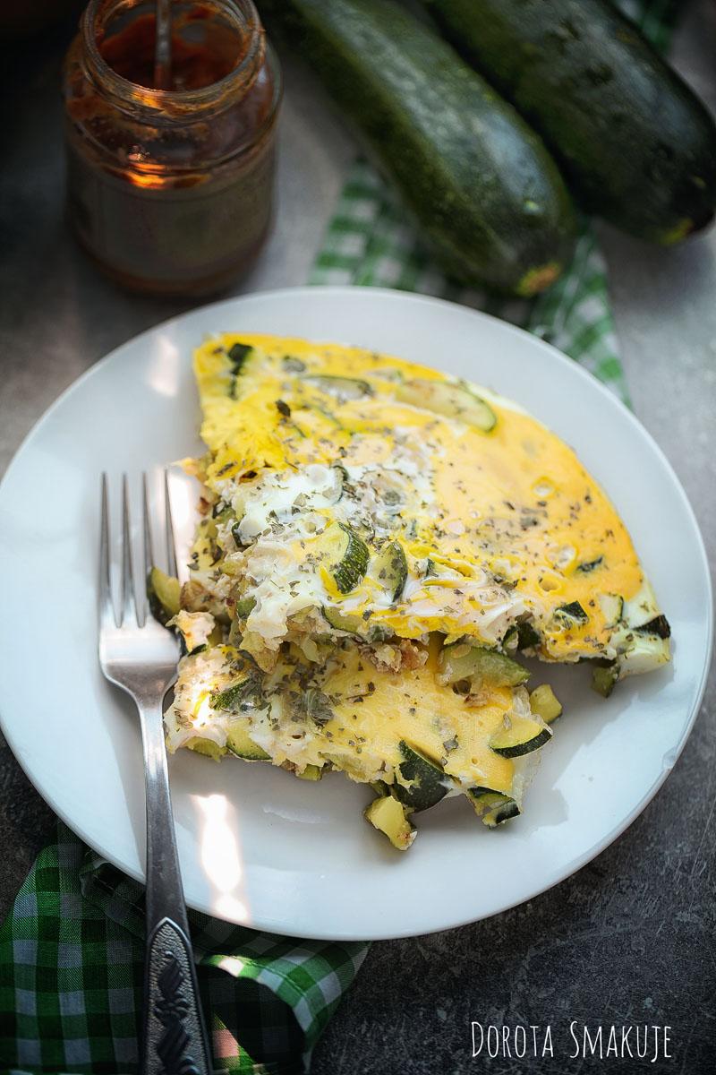 Omlet z cukinią ostro doprawiony blog