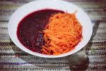 Zupa buraczkowa z makaronem marchewkowym - post dr Dąbrowskiej