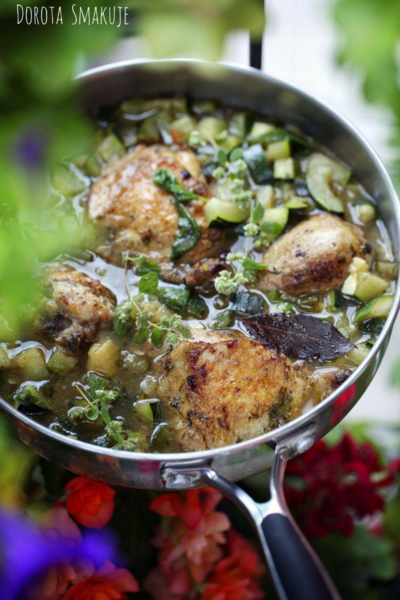 Kurczak z cukinią we włoskim stylu