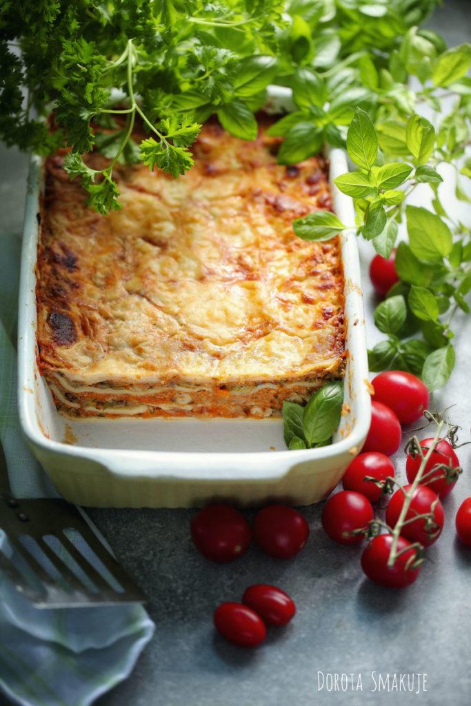 Lasagne z mięsem i cukinią