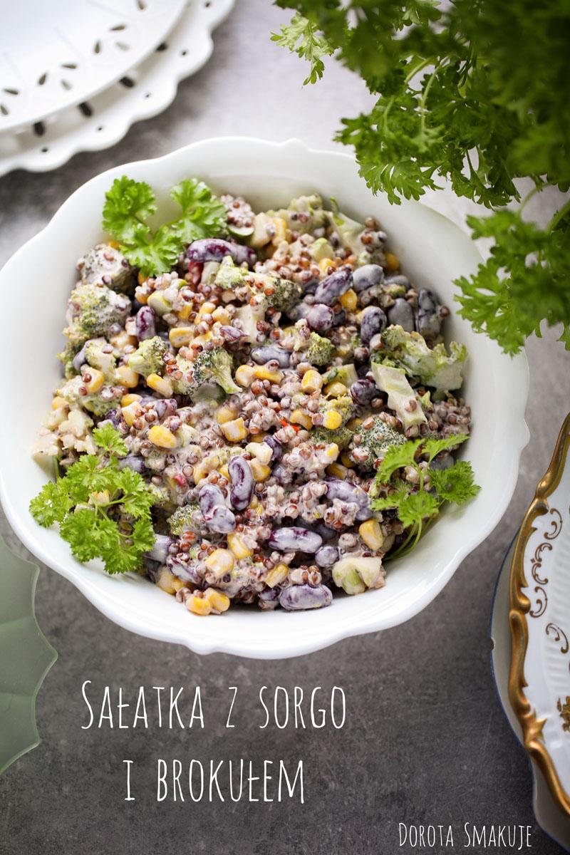 Sałatka z sorgo i brokułem - łatwa